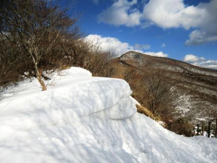 ミニ雪庇と荒山