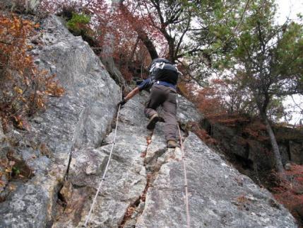 三笠山へ登り返す