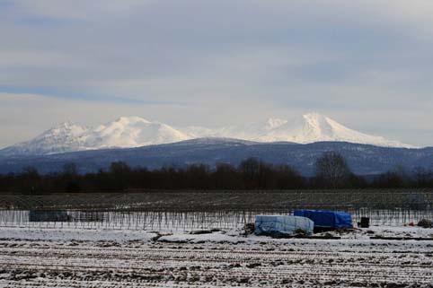 山に雪1と2