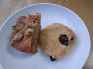 おからのレーズンクッキーとプチシナモンケーキ