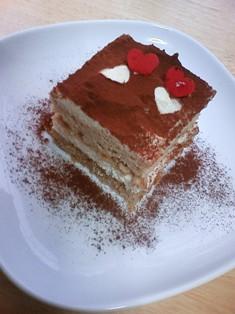 バレンタインにティラミス風ケーキ