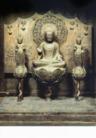 法隆寺阿弥陀三尊像