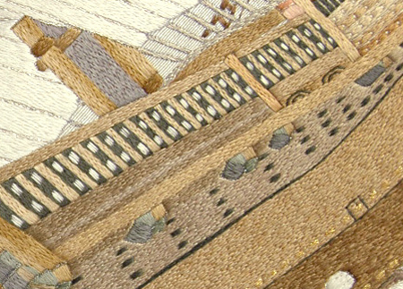 スワトウ刺繍袋帯