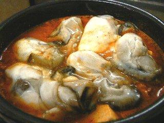牡蠣チゲ①