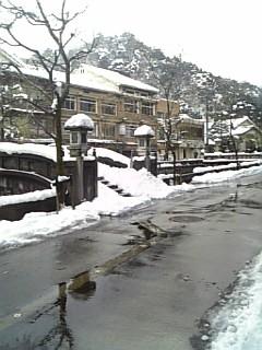 城崎温泉は今日も雪!