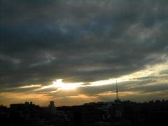 富ヶ谷から西の空