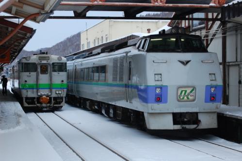 網走駅 キハ40とキハ183オホーツク