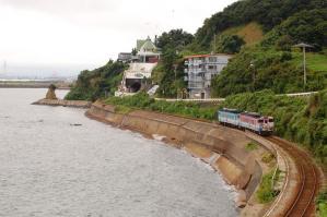キハ40系 ハットリくん 雨晴 氷見線 2009/8/11