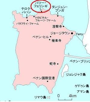 ペナン 地図