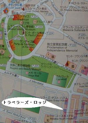 地図 トラベラーズロッジ