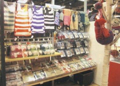 ロフト梅田店の編み物コーナー