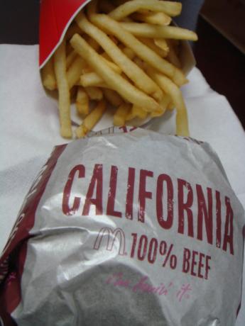 カリフォルニアバーガー!