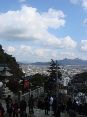 大門から見た景色