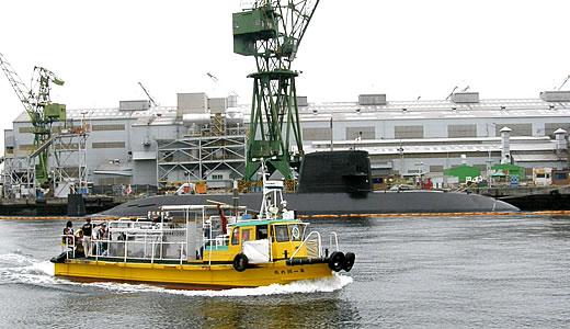 潜水艦が停泊@川崎重工神戸工場