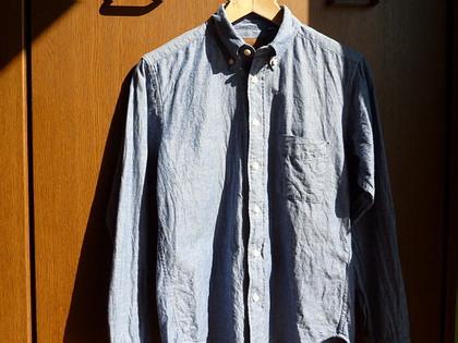 Explorer オリジナルBDシャンブレーシャツ。