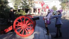 大砲でド~ン!(ミッキー顔)(幅:240px)