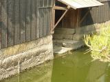 住宅作業場の水門 今保港から海へと船の出入がされた。