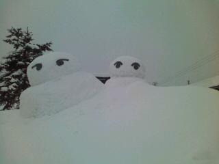 可愛い雪だるま(^ω^)