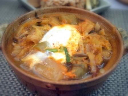 白菜豆腐キムチ鍋
