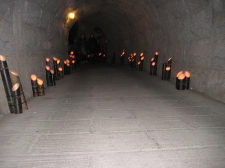 ②トンネルの中