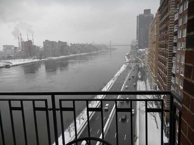 大雪のニューヨーク