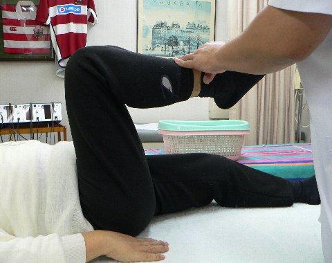 柴田さの膝・治療前