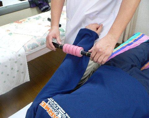 福森さんの前腕を治療
