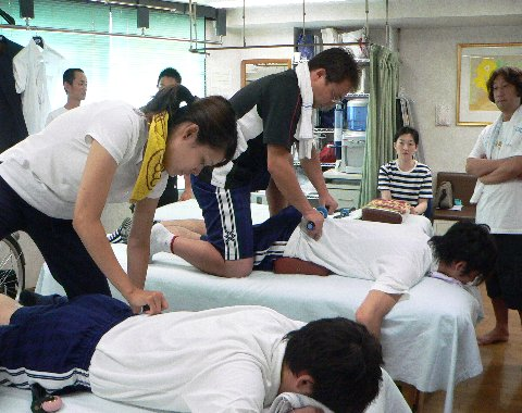 腰部を治療する
