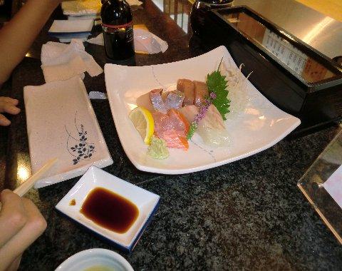 2010年9月19日寿司元刺身盛り合わせ