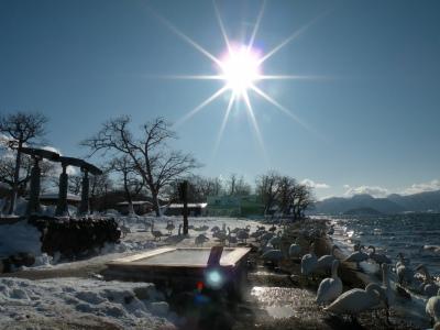 快晴続きの屈斜路湖畔