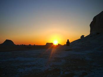 砂漠夕焼け