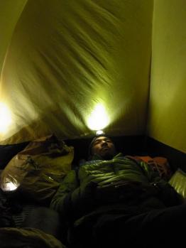 テントの中ruby
