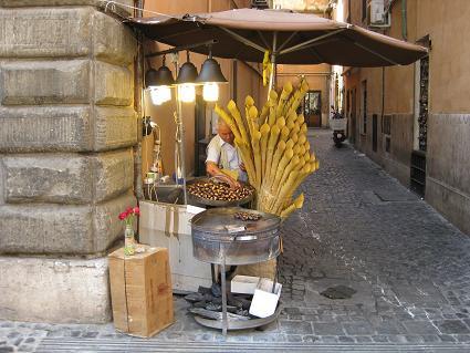 ローマの焼き栗屋さん