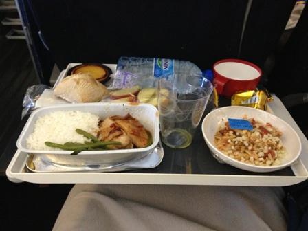 エールフランスの機内食・和食