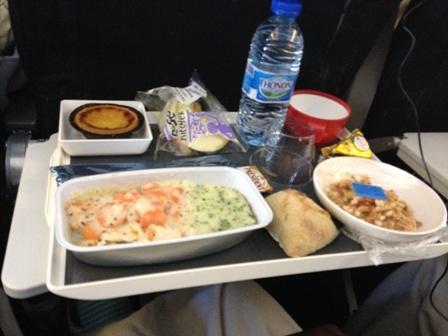 エールフランスの機内食・洋食
