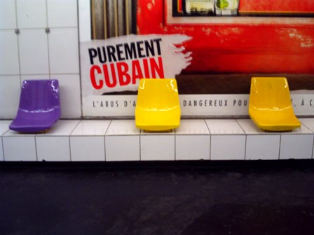 パリ地下鉄のカワイイ椅子