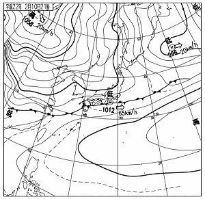 天気図 2010 0210 21