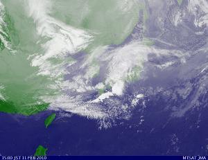 気象衛星 2010年2月10日15時00分