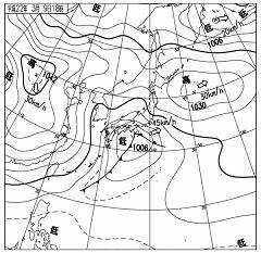 天気図 2010年3月9日18時