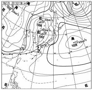 天気図 10031515