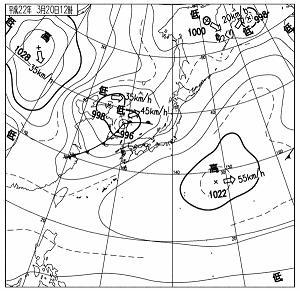 天気図 10032012