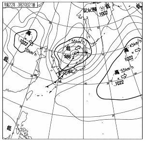 天気図 10032021