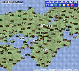 近畿 気温 201003210300-00