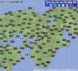近畿 気温 201003210400-00