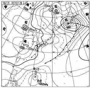 天気図 2010年3月26日12時