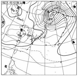 天気図 10041418