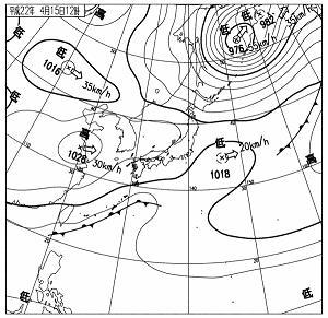 天気図 10041512
