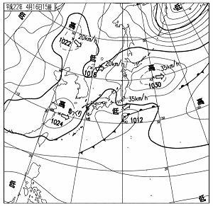 天気図 10041615