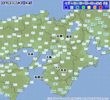 近畿地方 気温 201004161500-00