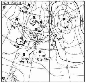 天気図 10042821